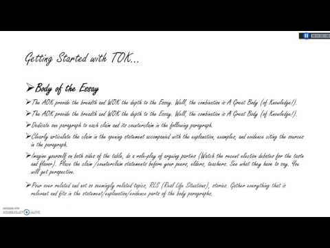 How to get started with the  IB TOK Essay