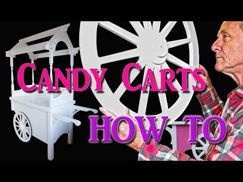 Candy Cart assembling collapsible sweet cart or floss machine cotton