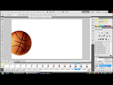 How To make an Animation (GIF) in Photoshop CS5 or 6 *HD*