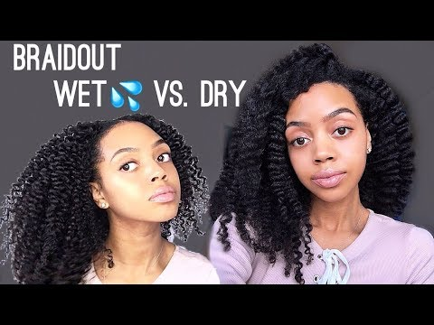 BRAIDOUT ON WET AND DRY HAIR | Cool Calm Curly