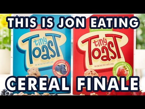 TINY TOAST Cereal Review - This is Jon Eating Cereal Ep. 8 FINALE