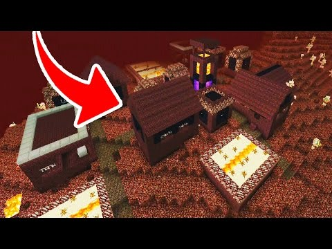 ACHEI UMA VILA NO NETHER DO MINECRAFT POCKET EDITION !