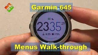 Garmin 645 - Menus Walk-through