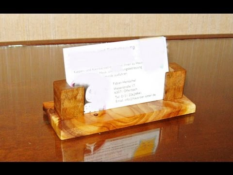 making a wooden Business Card Holder