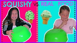 Download SQUISHY VS. REAL FOOD CHALLENGE ″ SWITH UP ″ SISTER FOREVER Video
