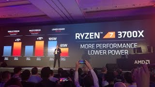 AMD Ryzen 3700x Introduced at Computex 2019, Benchmarked with Cinebench