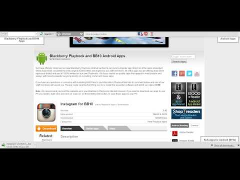 How to download android apps onto a blackberry playbook