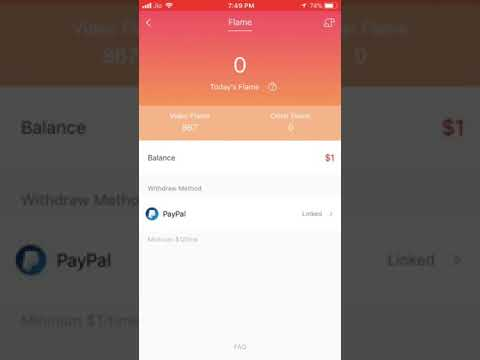 How to convert Hypstar flames into Paypal Money-Live withdrawl