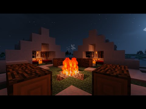 ✔ How to make An Improved Fire Pit and Tent in Minecraft