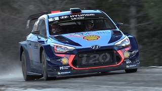 Hyundai i20 WRC 2017 Sound - Neuville, Sordo & Paddon In Action at Rallye Monte Carlo 2017