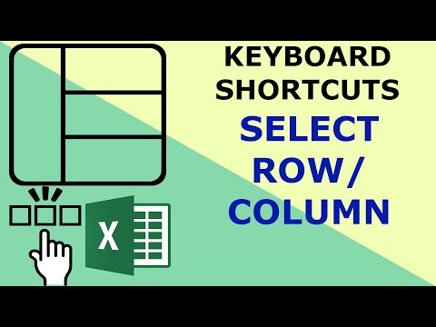 Select row and select column -Excel keyboard shortcuts