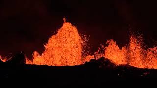 Fissure #22 And #20 Volcanic Eruption Big Lava Flows, Pahoa, Hawaii