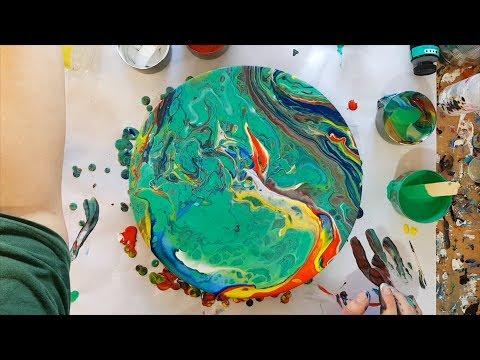 193 Mont Marte Paints and Medium Trial Acrylic Pour