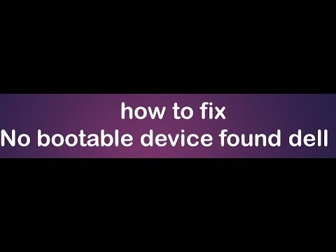 no bootable devices found (dell 2016)