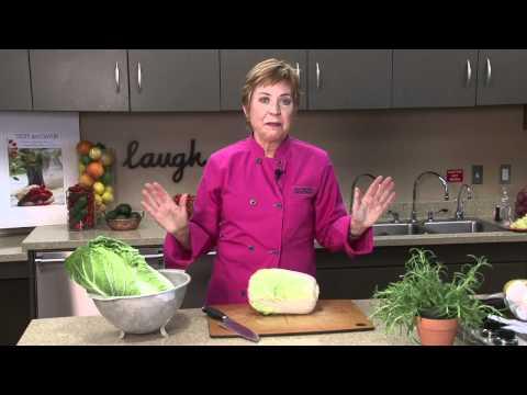 Chopping Napa Cabbage