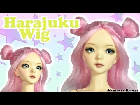 How to: Cute Harajuku inspired Doll Wig - Pastel Yarn Wig Tutorial