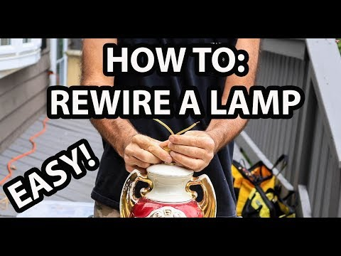 How To: Replace Cord and Switch on Antique or New Lamp!  Best Youtube Video !!