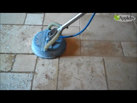 Cleaning Tumbled Travertine Floor Near Silicon Valley CA