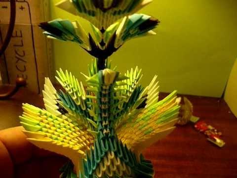 3D origami peacock fantasy.