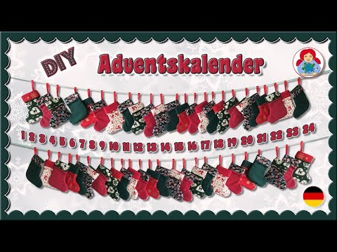 DIY | Adventskalender mit mini Weihnachtsstrümpfen • Sami Dolls Tutorials