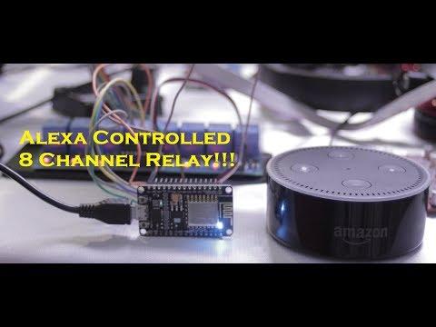 Alexa Controlled 8 Channel Relay Board