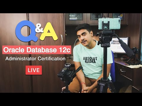 Live 🔴 Q&A Oracle Database 12c Administrator Certification explained