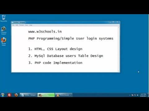 PHP User Login System - www.w3schools.in