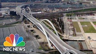 Drone Video Shows Empty Motorways Amid Coronavirus Lockdown In Italy   NBC News