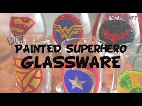 DIY: Painted Superhero Glassware (#lootcraft UNITE!)