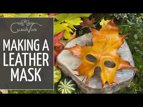 Making a Leather mask - How to DIY - CuoioVivo.it