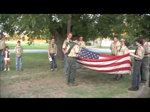 Boy Scout Flag Retirement Ceremony
