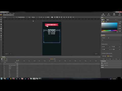 Google Web Designer Tutorial - Cool Button Effect, Replay Button, etc., Black Friday Sale Theme