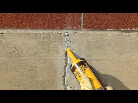 How to Repair Cracks in Vertical Concrete Surfaces with QUIKRETE