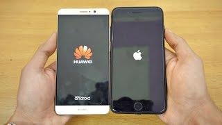 Huawei Mate 9 vs iPhone 7 Plus - Speed Test! (4K)