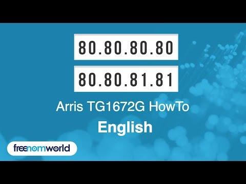 Freenom World Arris TG1672G HowTo (English)
