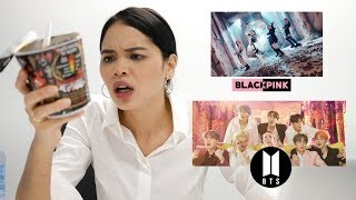 GHOST PEPPER CHALLENGE + BLACKPINK - Kill This Love & BTS - Boy With Luv (M/V REACTION)
