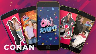 """Get Painfully Close To Celebrities With The """"Ow, Snap"""" App  - CONAN on TBS"""
