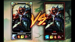 Masters First Time Zed Vs Silver Zed One Trick 1v1, Who Wins? (league Of Legends)