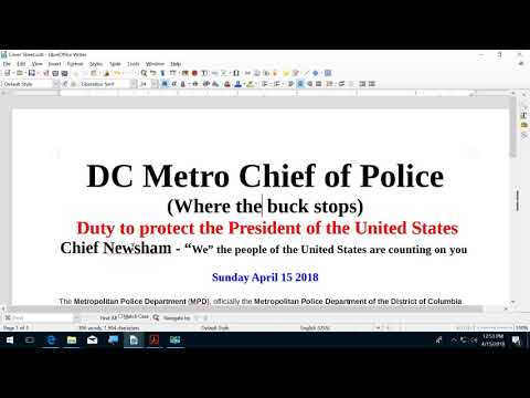 DC METRO CHIEF OF POLICE   Where the Buck stops