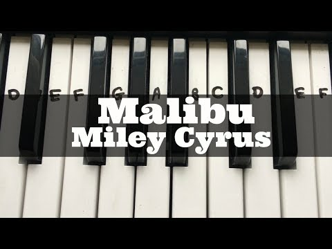 Malibu - Miley Cyrus | Easy Keyboard Tutorial With Notes (Right Hand)