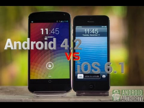Android 4.2 Jelly Bean vs Apple iOS 6.1 -- Which is the sweeter treat?