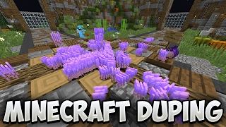 DUPING TONS OF DIAMOND BLOCKS ON A SKYBLOCK SERVER