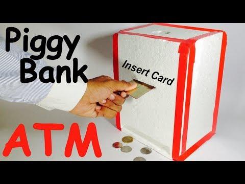 How to Make Piggy Bank ATM Machine at Home    DIY Craft for Kids
