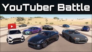 The Ultimate Youtuber Dragrace | Forza Horizon 3 | Ft. Ar12, Jackultramotive, Blackpanthaa & More!
