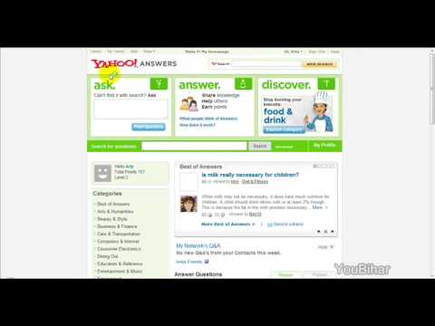 How To Use Yahoo Answers
