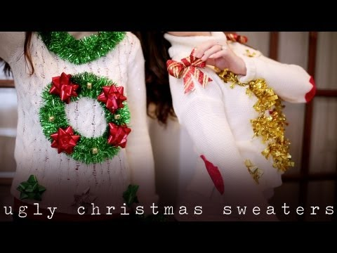 DIY UGLY & TACKY CHRISTMAS/ HOLIDAY SWEATERS