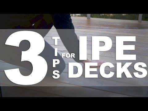 3 Tips for Ipe Decks - Risinger Goes Rogue