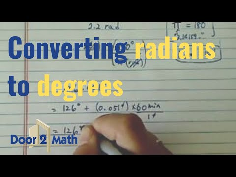*how to convert radians to degrees?