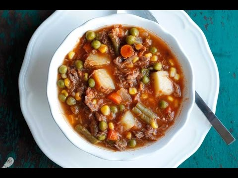 Mom's Old-Fashioned Vegetable Beef Soup