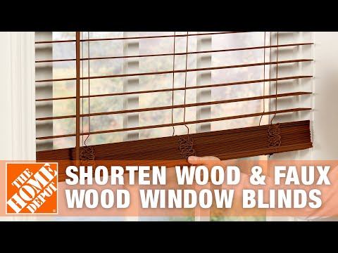 How to Shorten Wood and Faux Wood Window Blinds